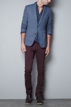 Casual to Evening Blazer by Zara #blazer #men #fashion #Zara