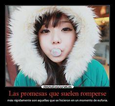 Las promesas que suelen romperse mas rapidamente son aquellas que se hicieron en un momento de euforia