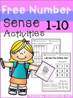 Inside you will find 3 FREE Number Sense Activities pages.There are 5 different kinds of activities including comprehension,ten frames, etc.For the free version i only included 3 of them.If you like this product please checkout the full version too :Number Sense Activities (1-10)You may also like :Sight Word Activities (Pre-Primer)Reading ComprehensionAlphabet Cut and Paste Activities (Upper and Lower case)CVC Cut and PasteAlphabet Trace and ColorI would appreciate your feedback.If you have…