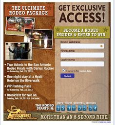 Love the rodeo?  Win a free rodeo weekend in San Antonio or visit Hidden Valley RV and join us for a free Cowboy Breakfast on January 25th, 2013