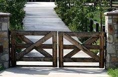 modern wood driveway gate - Google Search