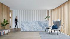 Case Meallin Office design by Mim Design Interior Design Blogs, Corporate Interiors, Office Interiors, Lobby Interior, Interior Architecture, Commercial Design, Commercial Interiors, Mim Design, Design Case