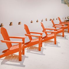 Red Chairs in a Row   Colour