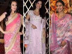 We spotted a few celebrities like Sonakshi Sinha and Sushma Reddy looking smashing in pink outfits and we seem to think the colour is dominating this festive season. Check out these star women all pretty in pink!
