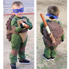 TMNT Costume - Not sure if I could figure out how to make this, but it's so cute!