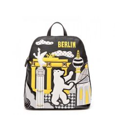 Borsa Braccialini Cartoline zainetto Berlino B10210 - Scalia Group #borse #braccialini #glamour #fashion