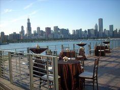 Adler Planetarium Wedding - Beautiful view of the Chicago skyline.