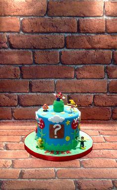 Super mario theme cake.