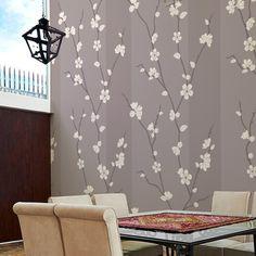Papel de parede adesivo floral - StickDecor   Decoração Criativa