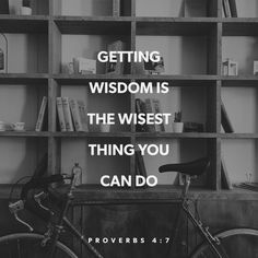 Wisdom comes from the Lord, spending time with Him cultivates that...