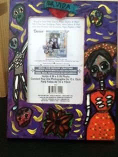 DiY Day of the dead Dia de los muertos picture frame por vida FOR LIF