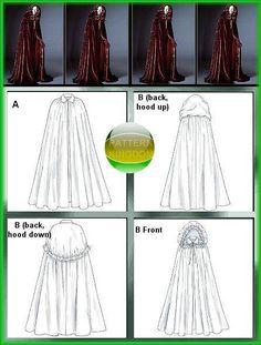 McCalls 4698 Gothic Fairy Tale Hooded Cloak Vampire