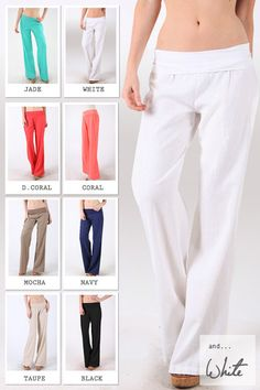 Fold Over Linen Pants- I need these to be comfortable and still look professional at work