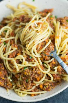 """This vegetarian bolognese recipe is made with mushrooms, carrots, celery, garlic, and onions. A delicious meatless vegetarian """"meat"""" sauce recipe made with fresh produce."""