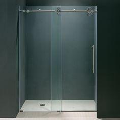 Trackless Shower Door - easy clean