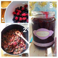 Preparazione marmellata di frutti di bosco