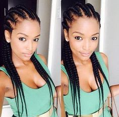 Increase the height and volume of your hair by styling your tresses in uniquely designed big braids. Check out our list of 40 stunning and trendy big braids! Ghana Braids Hairstyles, Protective Hairstyles, Braided Hairstyles, Braids Cornrows, Hairstyles Videos, Hairstyles Haircuts, Protective Styles, Trendy Haircuts, Sisterlocks