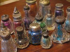 antique salt shakers for glitter
