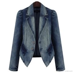 Women Denim Jackets Vintage Open Cardigans Adult Jeans Hoodies Blazer Casual Classic Stylish Outwear Coat Tops Jeans Coat Outdoor Jackets Carhart Jackets From Weideworld, $25.13| Dhgate.Com