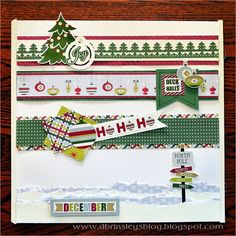 Super sweet holiday scrapbook page borders courtesy of Diana Brinsley! #CreativeMemories