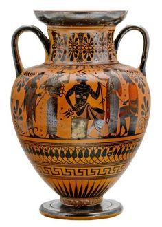 Amphore à figures noires - Athènes - 530-520 avant JC - BNF départ des Monnaies P