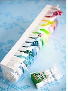 Washy Tape in Tic Tac Boxes Ribbon Organization, Craft Organization, Craft Room Storage, Diy Storage, Recycled Crafts, Diy And Crafts, Craft Projects, Projects To Try, Ideas Prácticas