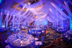 Wedding Reception Decor - Fabric Draping