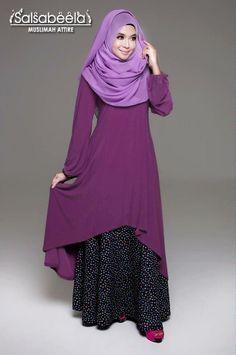 Muslimah Purple Fishtail Dress