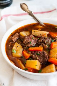 Slow Cooker Guiness Beef Stew by Aberdeen's Kitchen