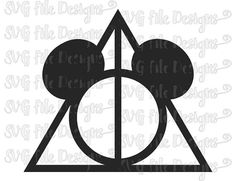 Mickey Mouse Deathly Hallows Harry Potter Symbol by SVGFileDesigns