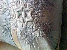 Tara Badcock PARIS+TAS Snowflake cushion commission