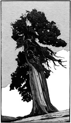 Richard Wagener. Outlook Tree. 2011. (wood engraving)