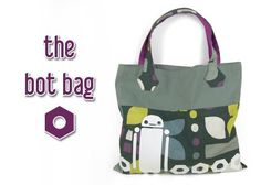 Free Tutorial: A simple but super cute robot-themed bag ♥ #diy #sewing