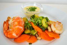 Vegetable wok with sea food and aioli Aioli, Food Blogs, Wok, Shrimp, Seafood, Meat, Vegetables, Cooking, Recipes