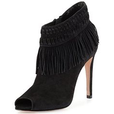 Nancy Jayjii Peep Toe Suede Shoes High Heels Ankle Leather Boots Pumps For Women Fringes Black 10 * You can get more details by clicking on the image.(This is an Amazon affiliate link and I receive a commission for the sales)