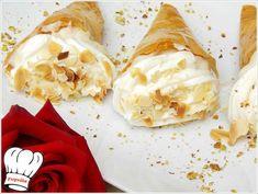 ΤΡΙΓΩΝΑ ΠΑΝΟΡΑΜΑΤΟΣ!!! - Νόστιμες συνταγές της Γωγώς! Greek Desserts, Greek Recipes, Dairy, Cheese, Sweet, Food, Candy, Eten, Greek Food Recipes
