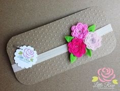 Fasce elastiche a rosellina, by Romanticards e Little Rose Handmade, 5,50 € su misshobby.com