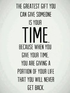 Don't waste it on someone who doesn't appreciate the gift!