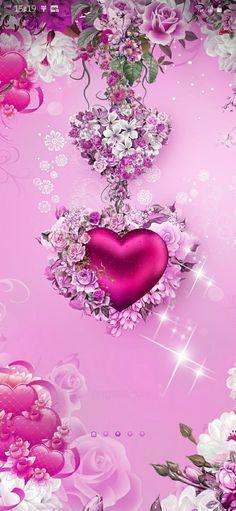 Pretty Backgrounds, Wallpaper Backgrounds, Iphone Wallpaper, Heart Wallpaper, Pink Wallpaper, Cute Bedroom Ideas, Pink Love, Cute Wallpapers, Clip Art