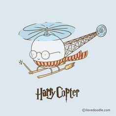 Harry Copter ___________________________ Doodle Everyday by Lim Heng Swee ilovedoodle http://www.ilovedoodle.com/ https://www.etsy.com/shop/ilovedoodle