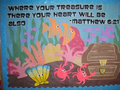 """""""where your treasure is there your heart will be also"""" underwater scene"""