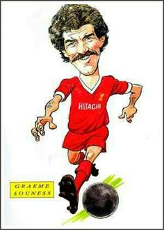 Graeme Souness of Liverpool in cartoon mode.