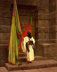 Jean-Léon Gérôme - Déplier le drapeau sainte