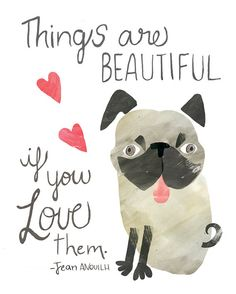 Watercolour collage inspirational quote art illustration    Do you have an ugly dog in your life? This is part of my inspirational quotes for kids