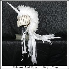 Pearly Pony Delux.... White Unicorn Mohawk with door BubblesAndFrown, $256.66