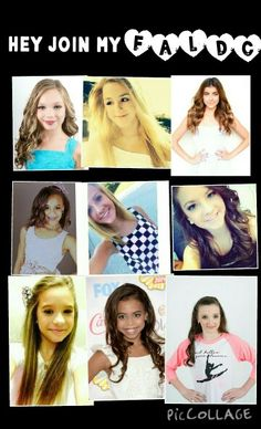 I am starting a faldc if you want to join all they girls ever on dance moms are open even if they aren't in the picture