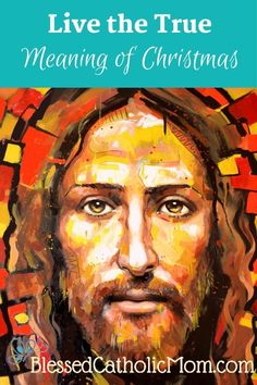 Live the True Meaning of Christmas - Jesus, our God, became man. Catholic Pictures, Pictures Of Jesus Christ, Christian Images, Christian Art, Croix Christ, Jesus Mercy, Jesus Christ Painting, Jesus Drawings, Christ Tattoo
