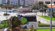 Canary Islands : Túnel de acceso al Muelle y Parque de Santa Catali...