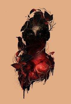 Universe Inside Art Print by Nicebleed Dragons Online, Inside Art, Blood Art, Poster Prints, Art Prints, Portrait, Design Art, Graphic Design, Book Design