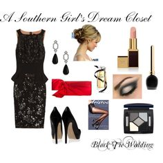 A Southern Girl's Dream Closet: Black Tie Wedding, created by sweetasasouthernpeach on Polyvore